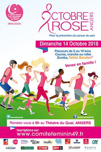 Affiche Octobre Rose Angers